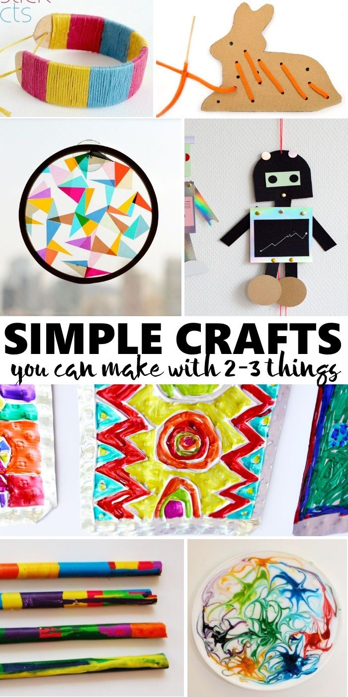 Childrens arts and crafts supplies - 20 Simple Crafts Kids Can Make With Only 2 3 Supplies