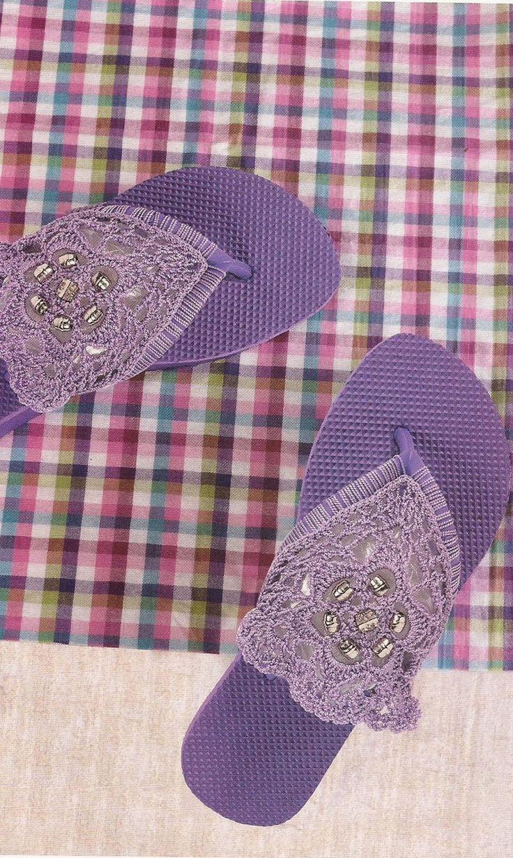 Esquemas | CTejidas: Zapatos a Crochet - Sandalias Tres Puntadas - http://esquemas.ctejidas.com/2014/06/zapatos-crochet-sandalias-tres-puntadas.html