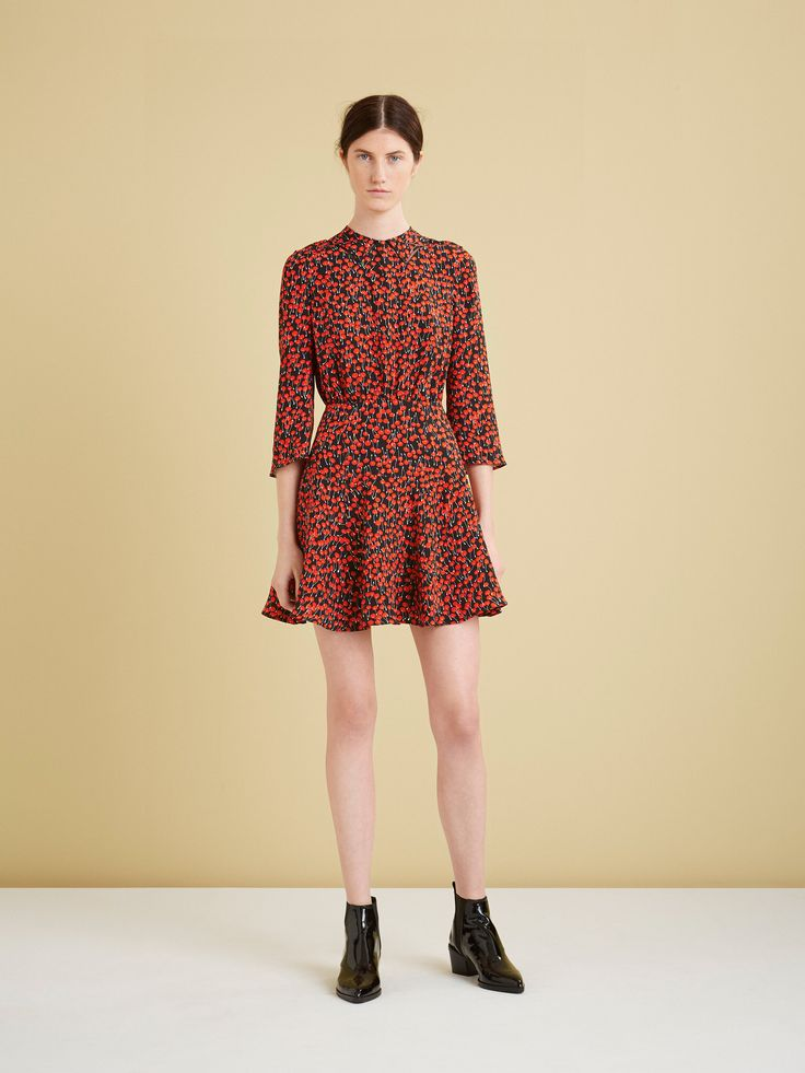 Black and Red Cherry Short Dress by Whistles, Look #7