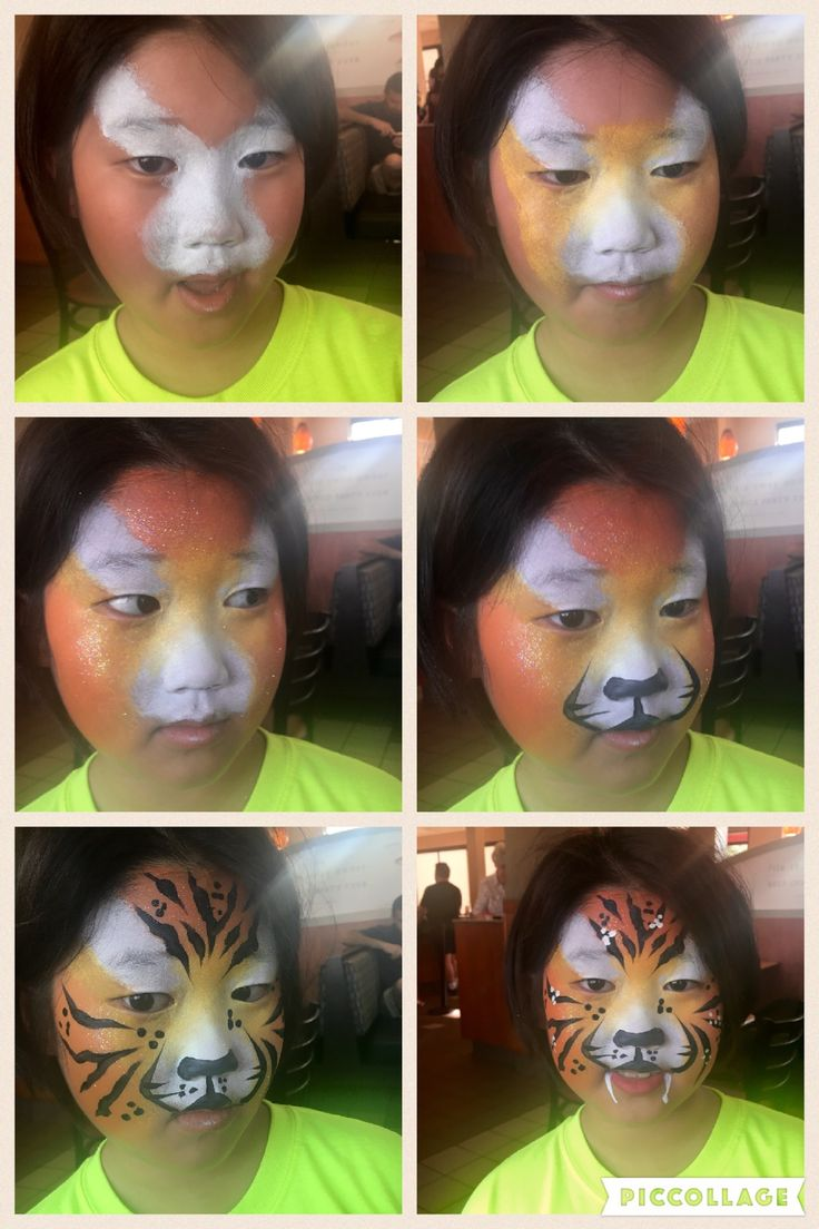 My Easy Tiger Face Paint Step By