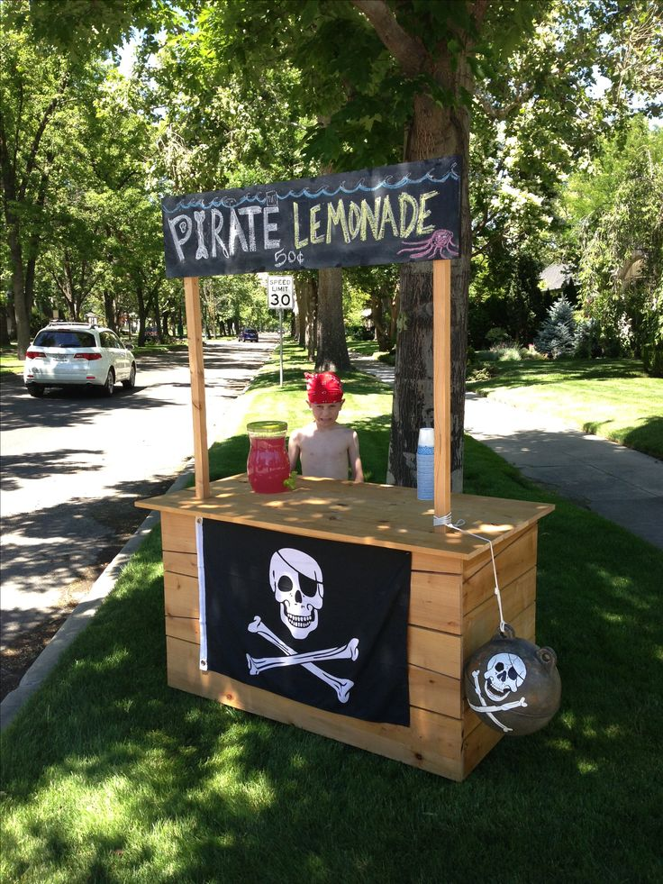 Pirate lemonade still a little young but if nancy or for Cool lemonade stand ideas