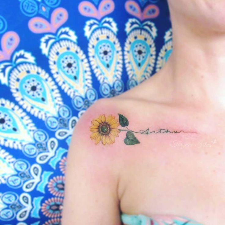 Tatuagem de girassol: 85 opções lindas para registrar na pele em 2020 | Tatuagem girassol pequeno, Tatuagem de girassol, Tatuagens de girassol