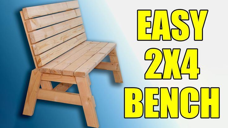 Plans here: http://jayscustomcreations.com/2013/06/29/free-plans-2x4-outdoor-bench/ You can build this super comfortable sitting bench or garden bench for ab...