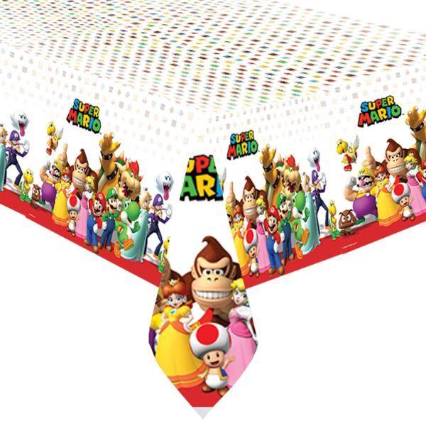 Mantel de plástico de Super Mario, es de plástico desechable y tienes a juego todos los demás complementos para tu fiesta.   #supermario #fiestasupermario #fiestamario #supermarioparty #decoracionfiesta #cumpleaños #invitaciones #fiesta #partydecorations