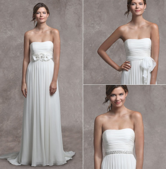 Beautiful Jenny Yoo Wedding Gown Rowan #1105B...love the jeweled belt! Could be good for a Greek or Celtic wedding.