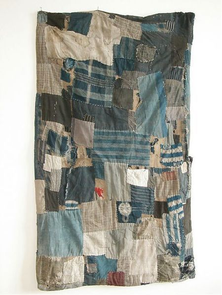 """boro"" — the patched and mended folk textiles of Japan (similar to Gee's Bend)."
