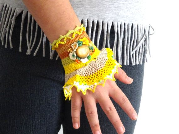 Manchet armband, handgemaakte kralen Manchet armband - pols manchet - verjaardag de giften van Kerstmis voor tiener meisjes, cadeaus voor vrouwen, bestfriends haak