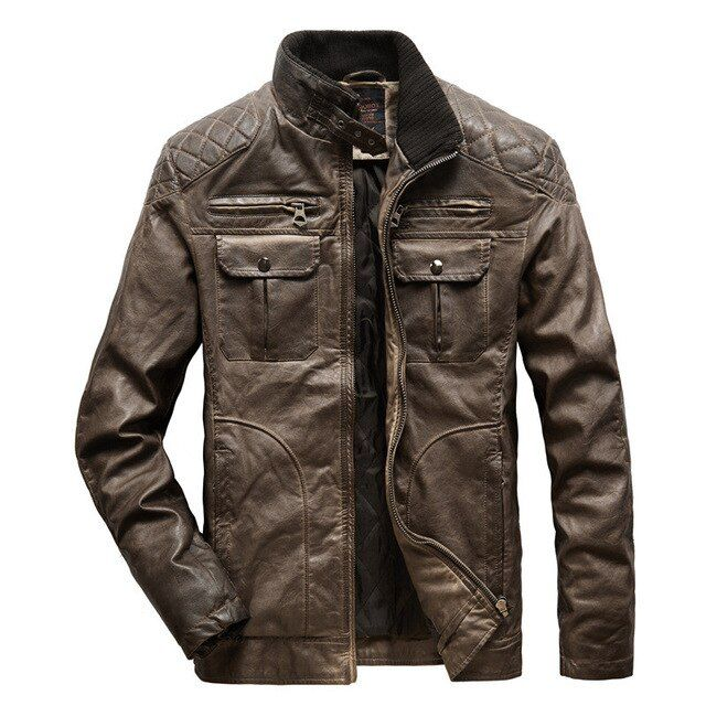 Mens Flight Suit,Mens Winter Solid Stand Leather Jacket Windbreaker,Winter Coats for Boys