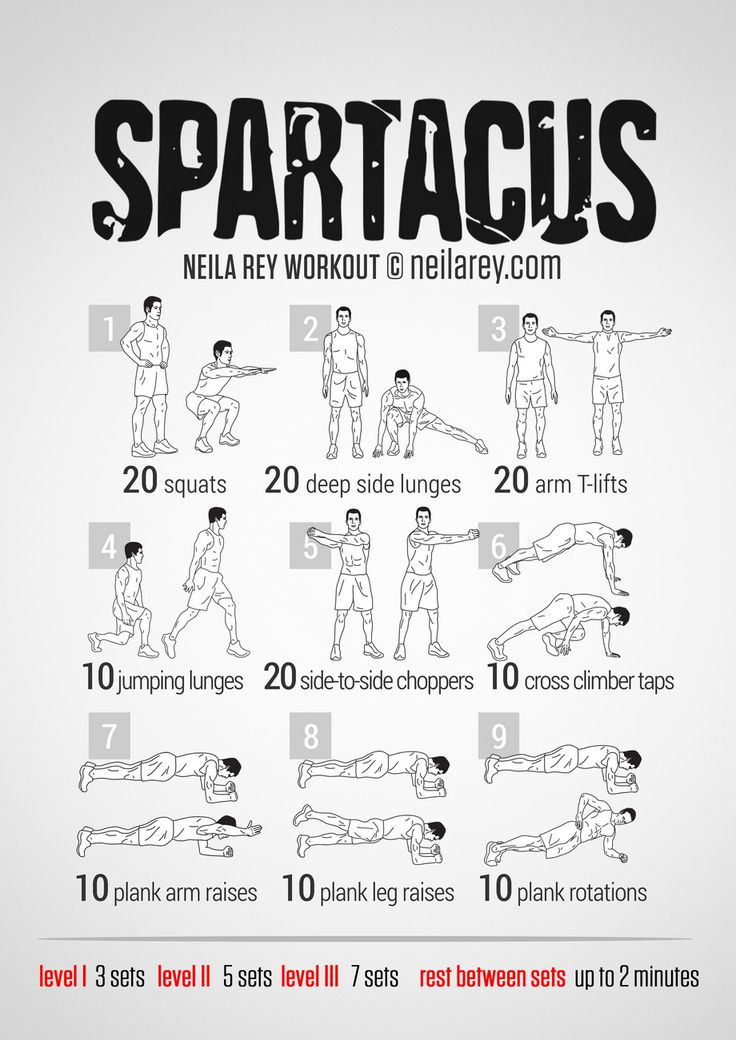 Spartacus Workout 2014
