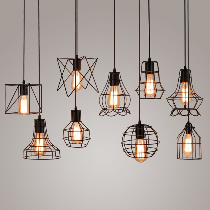 Best 25 edison lighting ideas on pinterest rustic lighting vintage industrial metal cage pendant light hanging lamp edison bulb lighting fixture new loft pendant lamps aloadofball