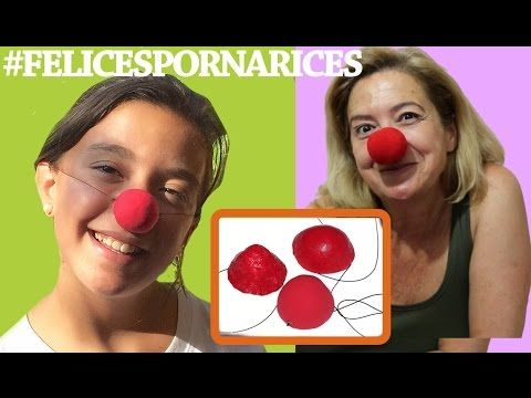 Cómo hacer una nariz de payaso.#FELICESPORNARICES - YouTube