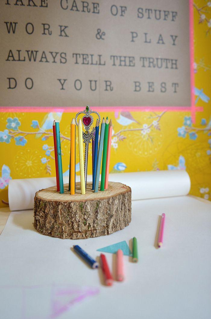 Zelf een potloodhouder maken uit hout. (foto kiyomi yui) #18 #voordeelfan #40diyKruidvat