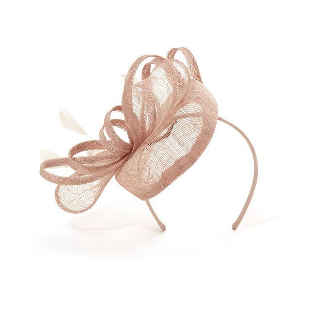 Pink cassie twisted bow pillbox fascinator