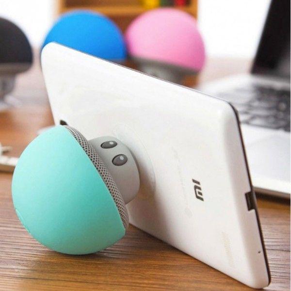 Emportez votre musique  Option kit mains libres  Enceinte mignonne et ultra-portative  Waterproof IPX4   #enceinte #hp #hautparleur #champignon #mushroom #sound