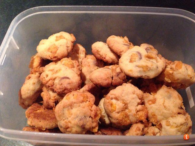 Cornflake Choc-chip cookies