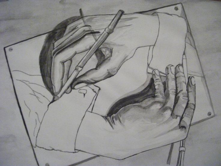 """""""Mâini care desenează"""", M.C. Escher"""