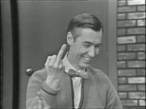 mr rogers This has got to be photoshopped - but damn it makes me giggle!