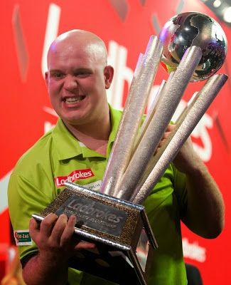 The new world champion, Michael van Gerwen
