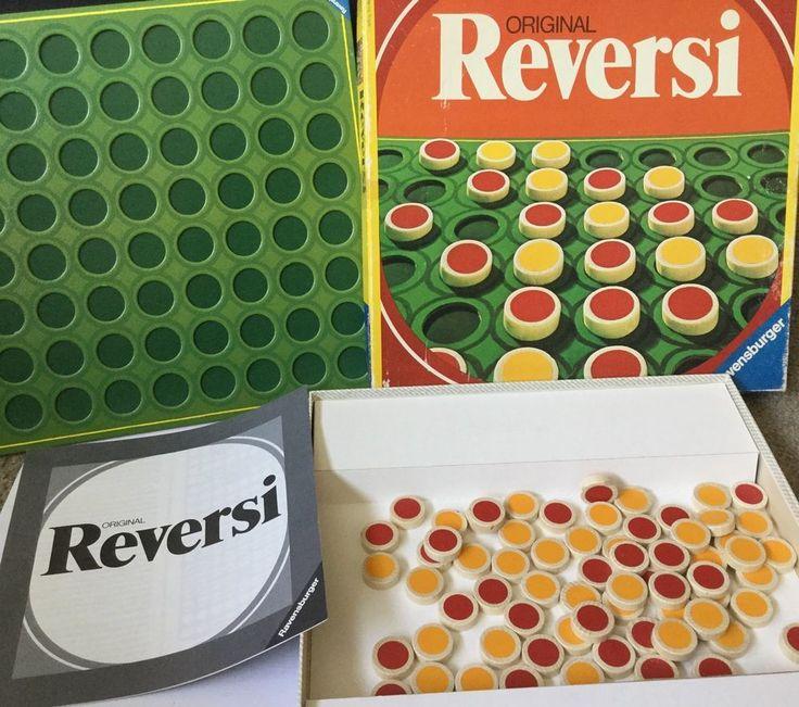 Vintage Original Reversi Game Ravensburger 1976 Complete