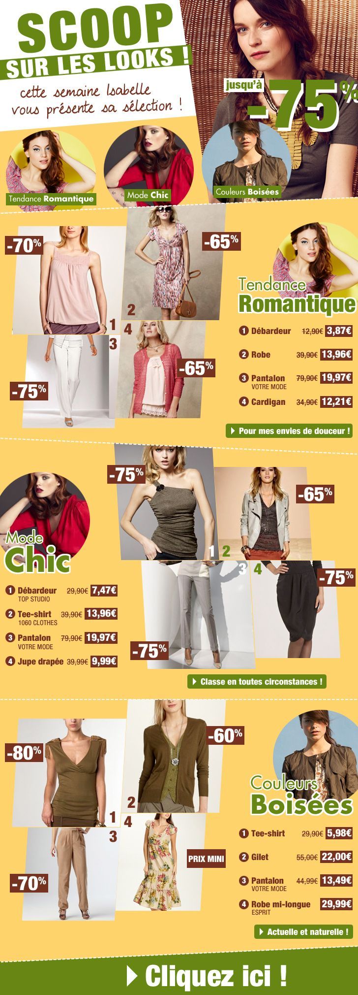 Scoop sur les looks / Janvier 2014 / Excedence.com  #EmailMarketing #DigitalMarketing #EmailDesign #EmailTemplate #SocialMedia #EmailNewsletters #EmailRetail #excedence #destockagemode