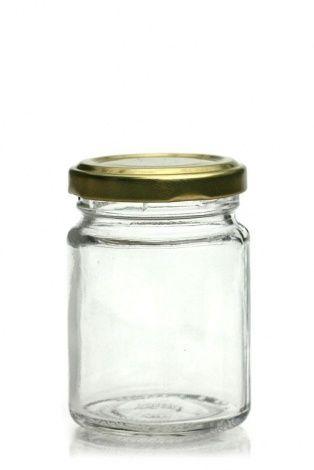 106ml vasetto in vetro rotondo con tappo a vite Twist off 48