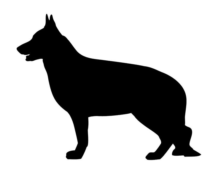 Sale German Shepherd Dog Silhouette Vinyl Decal For By