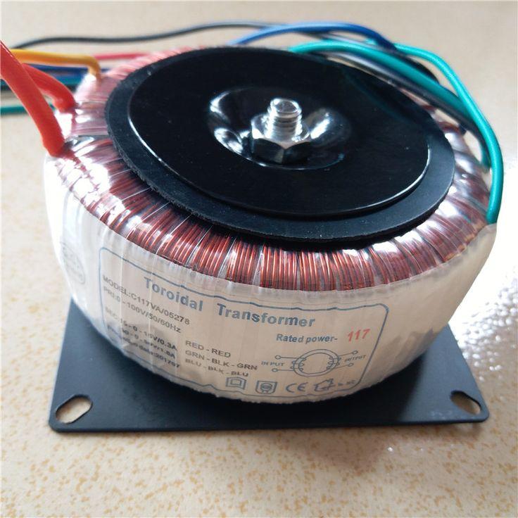 Ring transformer copper custom 100V input 120W toroidal transformer AC30V-0-30V 1.8A AC15V-0-15V 0.3A for power supply amplifier #Affiliate