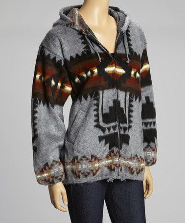 Another great find on #zulily! Charcoal Southwest Zip-Up Hoodie - Women by EARTH RAGZ #zulilyfinds