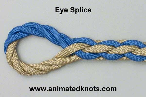 Tutorial on Eye Splice Tying need to try this on the mooring lines
