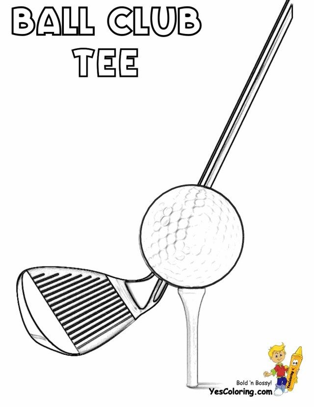 27 Beautiful Picture Of Golf Coloring Pages Golf Drawing