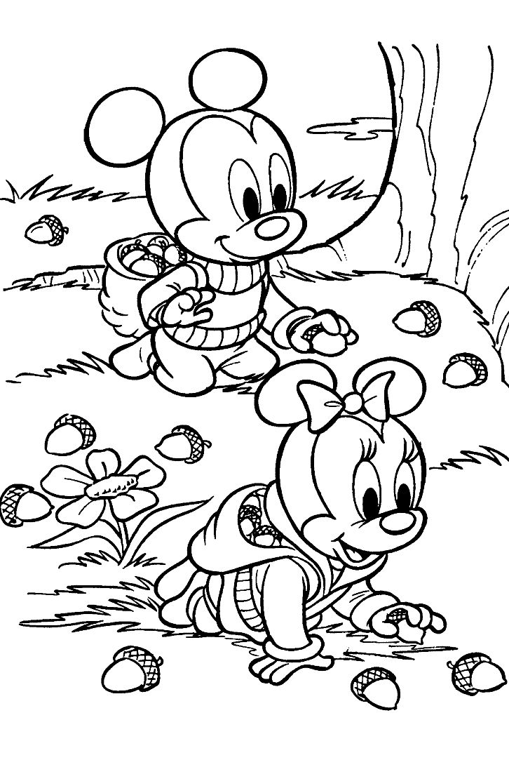 Baby disney coloring pages