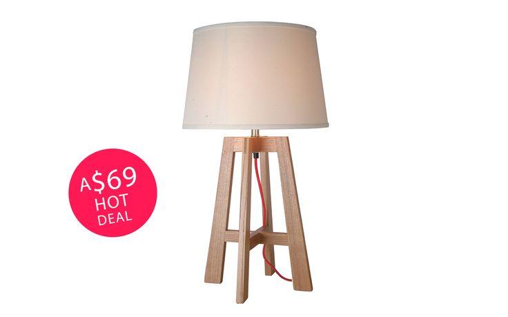 Dane Table Lamp Oatmeal Shade
