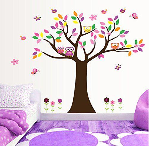 ufengke® Arbre Coloré et de Beaux Hiboux Stickers Muraux, la Chambre des Enfants Pépinière Autocollants Amovibles ufengke®-wl http://www.amazon.fr/dp/B00J570EGY/ref=cm_sw_r_pi_dp_g8FDvb1TWG5QM