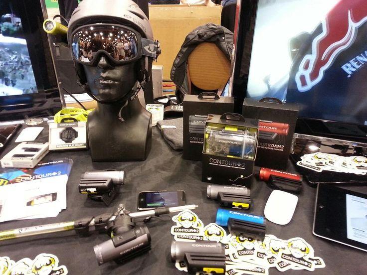 Contour's helmet cams. #2013ces