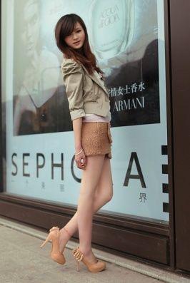 Women Fashion Shoes Glaring Rhinestone Silk Flower Embellished High Heels Pumps Apricot