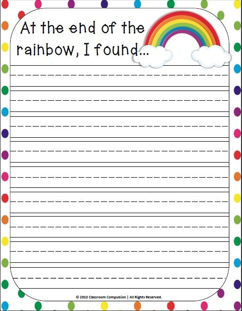Classroom Freebies Too: Spring Writing Prompt