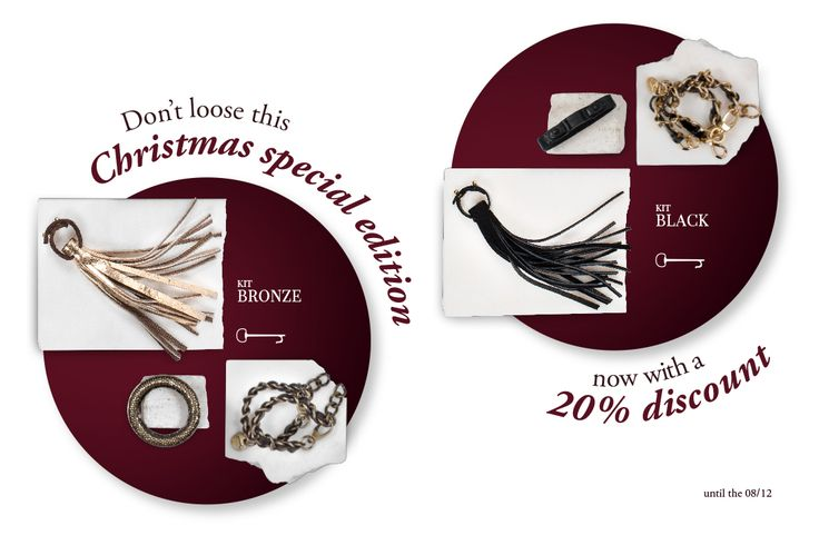 Special #Christmas #Edition: Black or Bronze Kit. Discover the #promotion! #gift #erotic #accessories #Xmas