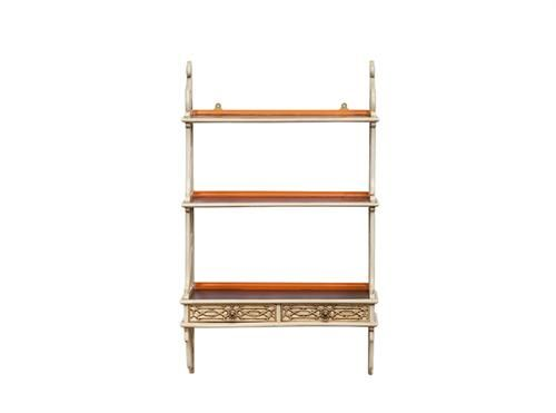 Lounge Chippendale 2 Drawer Hanging Shelf - Gold,  Measurements 560 x 160 x 900