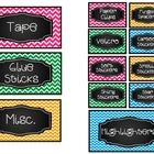 Chevron teacher toolbox supply labels   These cute chevron labels are perfect for organizing all of your supplies in one place!  Simply pick up a little toolbox at your nearest hardware s...