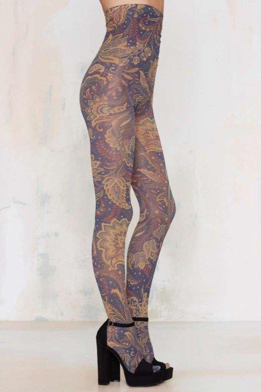 ClioMakeUp-collant-calze-pile-calde-lana-colorate-fantasia-damascate-nasty-gal