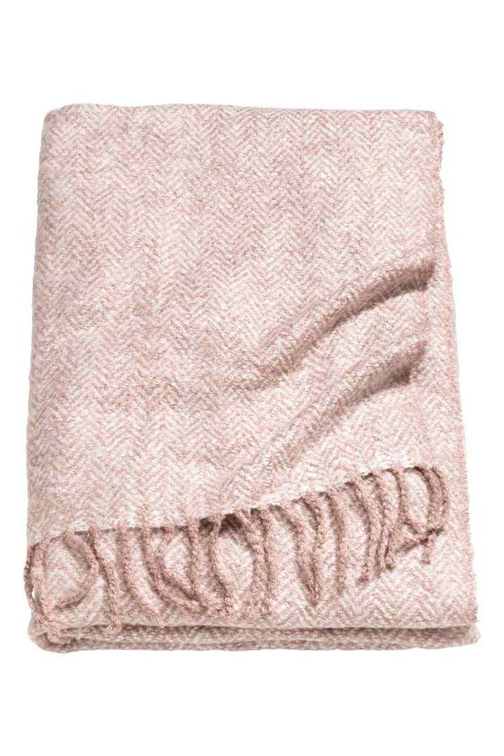 Manta con diseño de espiguilla - Rosa palo - HOME | H&M ES