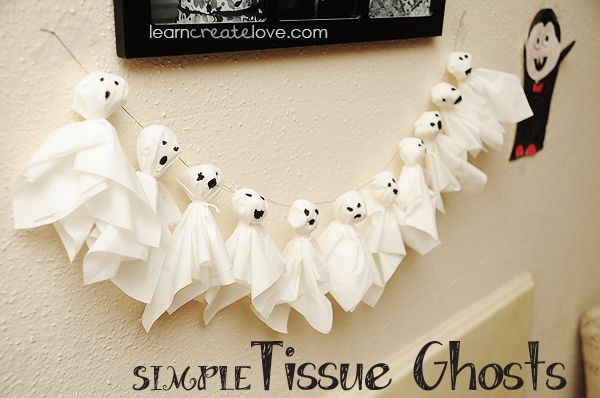 Tissue Ghosts A Fun And Easy Halloween Craft From