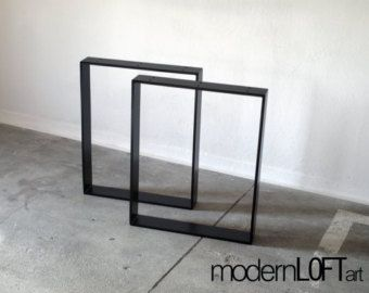 Tischbeine Tischgestell Tischkufen Tischfüße Stahl Industrial Loft Tisch