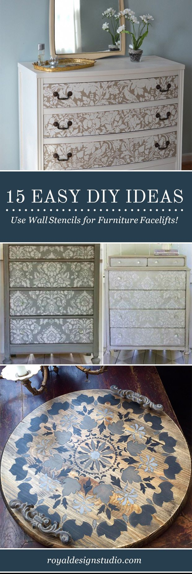 Diy Painted Stencil Bathroom Floor: DIY Decor Ideas: Painting Wall Stencils On Painted
