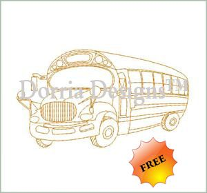 School Bus, FREE at time of this pinning. Other Free designs too