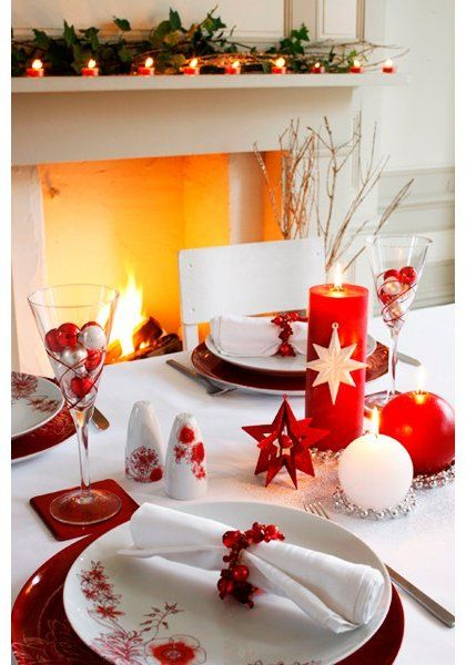 939 best christmas decorations and food images on - Centros de mesa para comedor ...