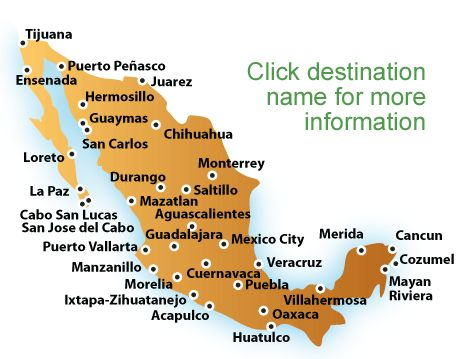 map of mexico beaches | Mexico Vacations, All Inclusive Mexico Vacation Packages & Resort ...
