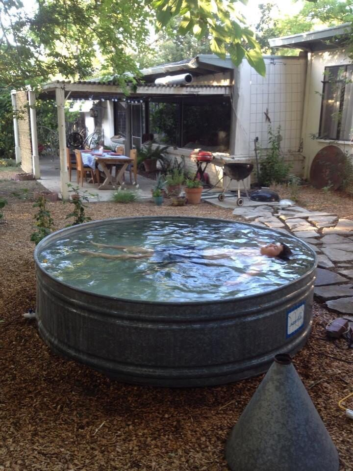 $208 Horse trough pool. Perfect, I think.