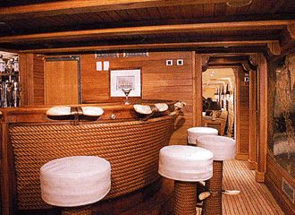 Aristotle Onassis' yacht, complete with barstools ...