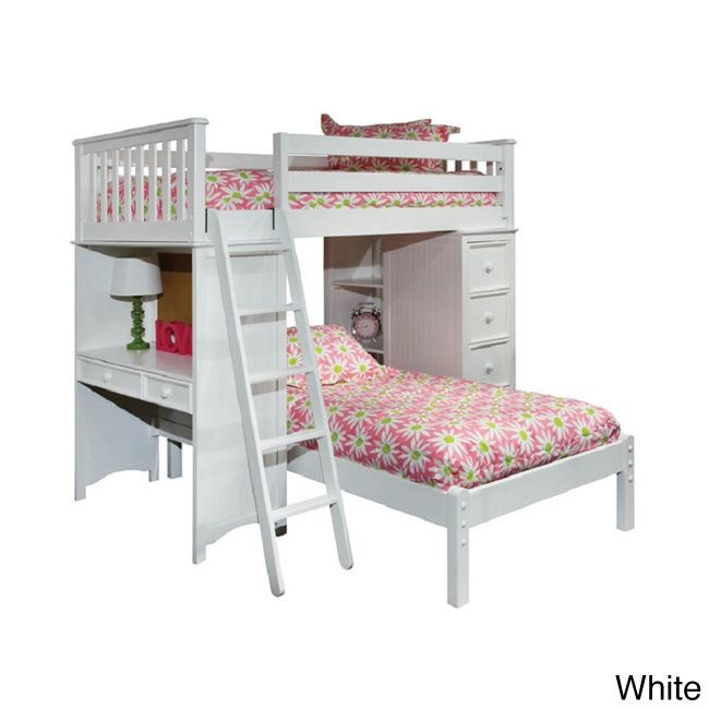 Classic Twin Loft/ Platform Bed Set with Built-in Chest/ Desk/ Bookshelf - Overstock™ Shopping - Great Deals on Kids' Beds